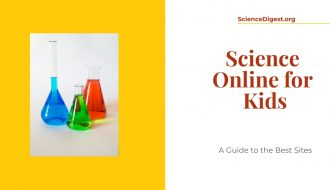 Science online for kids is displayed against a white a white background.