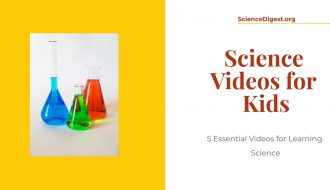Science videos for kids is displayed against a white background. Image shows a science kit for kids.
