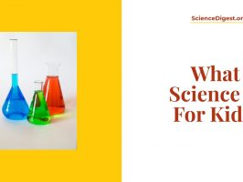 'What science is for kids?' is displayed against a white background.